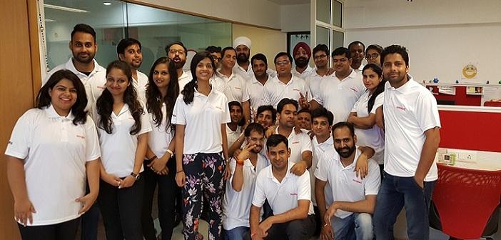 Sambhavi with the ShopMate team