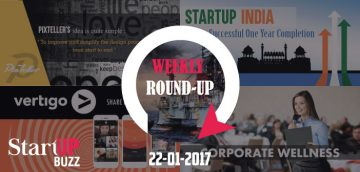 Startup-buzz weekly Roundup for 22nd January 2017