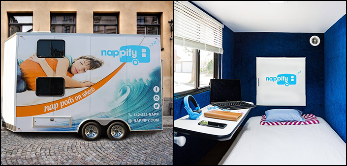 California-based Startup unveils Powernap Sleeping Pod