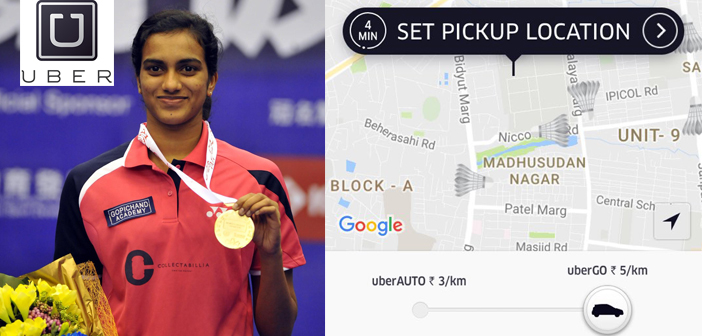 Uber honors Silver Olympic Medalist PV Sindhu on its App