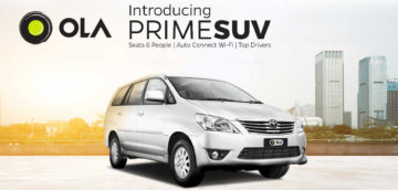 Ride in style with Ola's recent launch of Prime SUVs