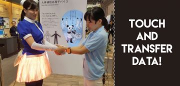 Panasonic Develops Device for Data Transmission over a Human Touch