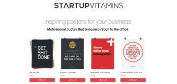 Startup Vitamins helps to boost office motivation by providing posters, and other goodies