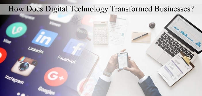 Digital Technology Transformation Business